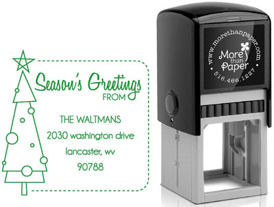 More Than Paper - Custom Self-Inking Stamps (Christmas Tree)