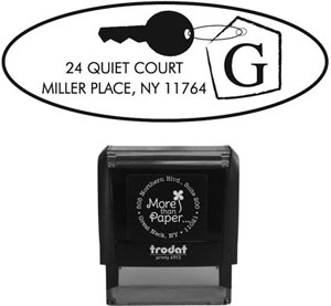 More Than Paper - Custom Self-Inking Stamps (Oval Key)