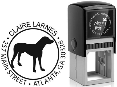 More Than Paper - Custom Self-Inking Stamps (Labrador Silhouette)