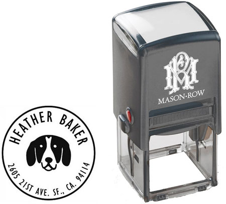 Mason Row - Square Self-Inking Stamp (Baker)