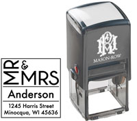 Mason Row - Square Self-Inking Stamp (Anderson)