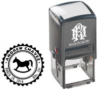 Mason Row - Square Self-Inking Stamp (Andrew)