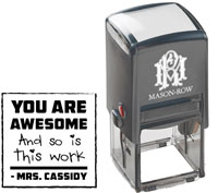 Mason Row - Square Self-Inking Stamp (Cassidy)