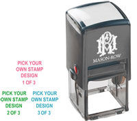 Mason Row - Square Self-Inking Stamp (Create Your Own Trio)