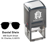 Mason Row - Square Self-Inking Stamp (Daniel)