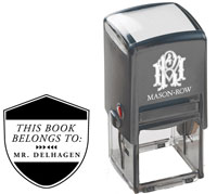 Mason Row - Square Self-Inking Stamp (Delhagen)
