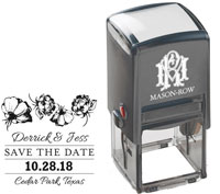 Mason Row - Square Self-Inking Stamp (Derrick)