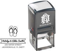 Mason Row - Square Self-Inking Stamp (Eddie)