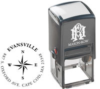 Mason Row - Square Self-Inking Stamp (Evansville)