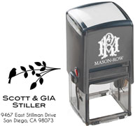 Mason Row - Square Self-Inking Stamp (Gia)