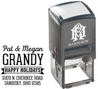 Mason Row - Square Self-Inking Stamp (Grandy)