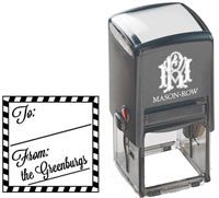 Mason Row - Square Self-Inking Stamp (Greenburg)