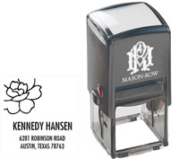 Mason Row - Square Self-Inking Stamp (Hansen)