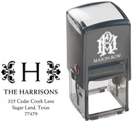 Mason Row - Square Self-Inking Stamp (Harrison)