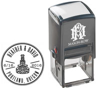 Mason Row - Square Self-Inking Stamp (Heather)