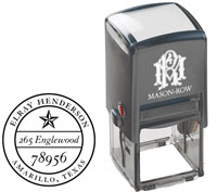 Mason Row - Square Self-Inking Stamp (Henderson)