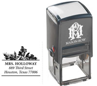 Mason Row - Square Self-Inking Stamp (Holloway)