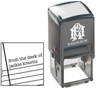 Mason Row - Square Self-Inking Stamp (Jackie)