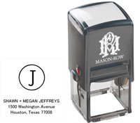 Mason Row - Square Self-Inking Stamp (Jeffreys)