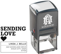 Mason Row - Square Self-Inking Stamp (Linda)