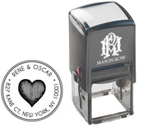 Mason Row - Square Self-Inking Stamp (Rene)