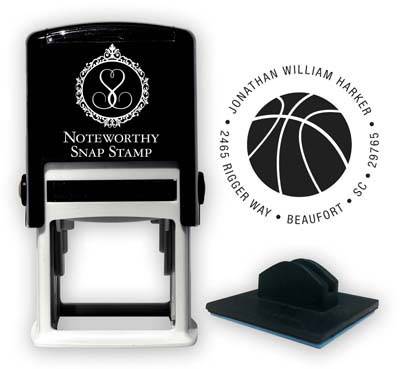 Noteworthy Collections - Custom Self-Inking Address Stampers (Basketball)