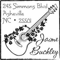 Noteworthy Collections - Custom Self-Inking Address Stampers (Accoustic Guitar)