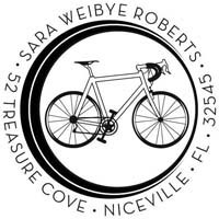 Noteworthy Collections - Custom Self-Inking Address Stampers (Bicycle)