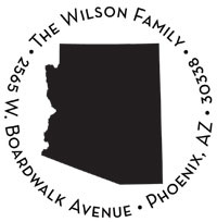 Noteworthy Collections - Custom Self-Inking Address Stampers (Arizona)