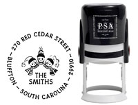 PSA Essentials - Custom Address Stamper (Carolers - Holiday)