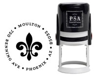 PSA Essentials - Custom Address Stamper (Fleur de Lis)