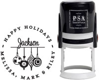 PSA Essentials - Custom Address Stamper (Ornaments - Holiday)