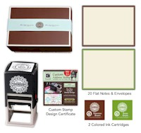 Three Designing Women - Custom Stamper Desk Set Gift Certificate (Anderson)