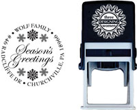 Three Designing Women - Custom Self-Inking Stamp #CS-3501 (Seasons Greetings)
