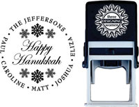 Three Designing Women - Custom Self-Inking Stamp #CS-3501 (Happy Hanukkah)