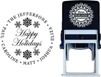 Three Designing Women - Custom Self-Inking Stamp #CS-3501 (Happy Holidays)