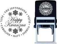 Three Designing Women - Custom Self-Inking Stamp #CS-3501 (Happy Kwanza)