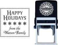 Three Designing Women - Custom Self-Inking Stamp #CS-3504 (Happy Holidays)