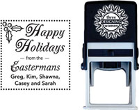 Three Designing Women - Custom Self-Inking Stamp #CS-3506 (Happy Holidays)