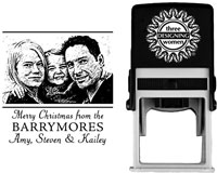 Three Designing Women - Custom Self-Inking Stamp #POPH7007 (Photo)