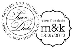 Save The Date/Wedding Stampers