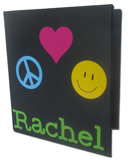 Personalized Three Ring Binder