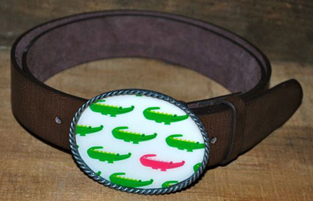 Alligator Repeat Belt Buckles by Boatman Geller