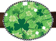 St. Patricks Day 2014 2 Belt Buckles by EA Designs