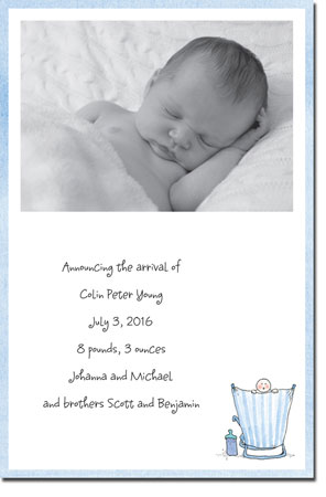 Blue Mug Designs Birth Announcements - Beach Boy Photo