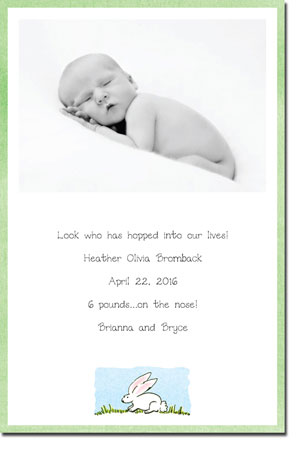 Blue Mug Designs Birth Announcements - Rabbit Photo