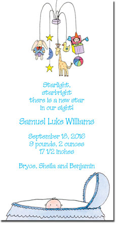 Blue Mug Designs Birth Announcements - Boy Mobile
