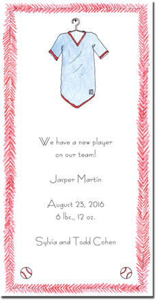 Blue Mug Designs Birth Announcements - Baseball Jersey