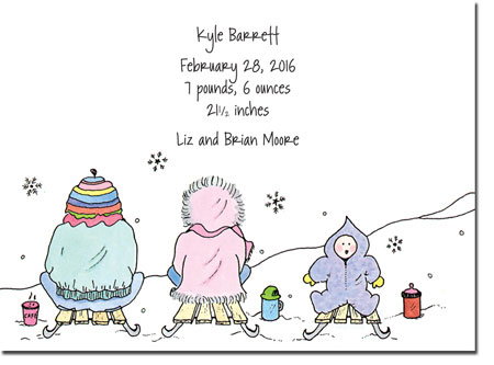 Blue Mug Designs Birth Announcements - Snow Baby
