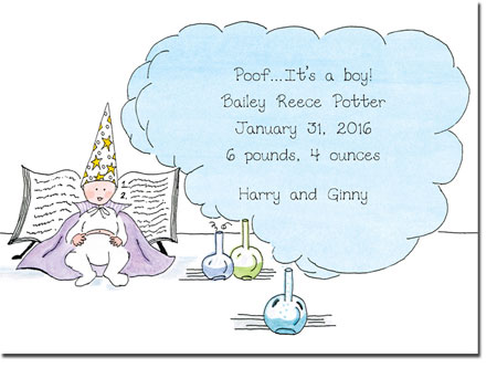 Blue Mug Designs Birth Announcements - Magician